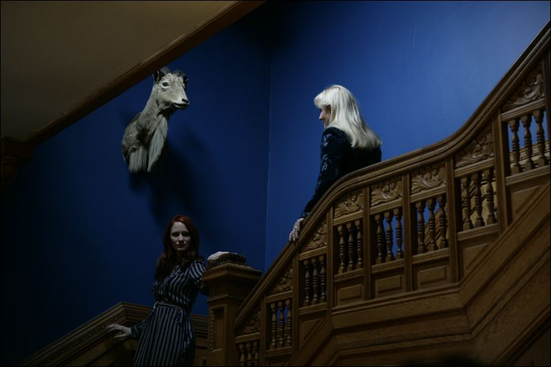 House on Black Lake Filmed Trailer - Ruth (Morla Gorrondona) and Alexandra (Anastasia Blackwell) with Ramey's trophy